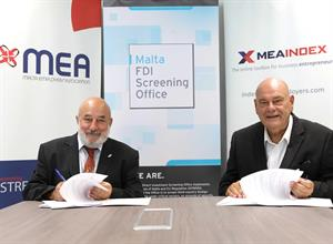 A COLLABORATIVE PARTNER AGREEMENT SIGNED BETWEEN  THE NATIONAL FOREIGN DIRECT INVESTMENT SCREENING OFFICE AND THE MALTA EMPLOYERS' ASSOCIATION.