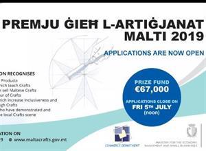 Premju Gieh l-Artigjanat Malti 2019