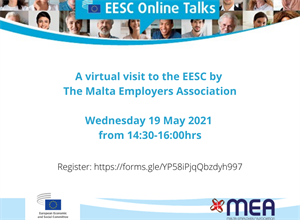 Virtual talk with the European Economic and Social Committee (EESC) for Employers