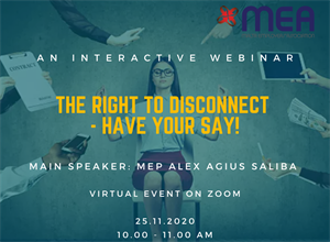 Webinar on the 'Right to Disconnect'