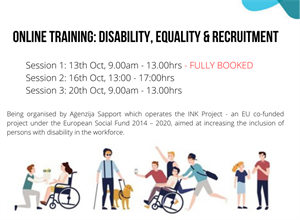 Free Online Training for HR Managers 'Disability, Equality & Recruitment'