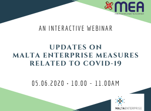 COVID-19 WEBINAR WITH MALTA ENTERPRISE